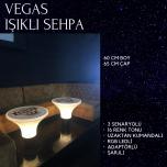Vegas Işıklı Sehpa
